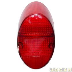 Lente da lanterna traseira - Fusca 1200/1300 - acrílica - vermelha - cada (unidade)