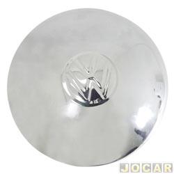 Calota do centro da roda VW - Fusca 1957 até 1974 - Kombi 1957 até 1981 - de ferro só serve em roda de 5 furos - fixada com grampos - cromada - cada (unidade)