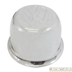 Calota do centro da roda Volkswagen - Fusca - todos modelos - Cromada - Copinho - Metalica - superior - cada (unidade)
