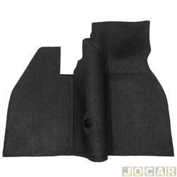 Tapete de borracha - Car Floor - Fusca 1959 até 1996 - inteiriço - dianteiro - cada (unidade) - ORIG.001DRV