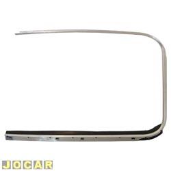 Friso da janela - alternativo - Fusca 1959 até 1986 - com borracha - escovado - lado do motorista - cada (unidade)