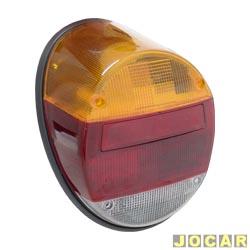 Lanterna traseira - alternativo - Fusca 1980 em diante - Fafá - tricolor - cada (unidade)