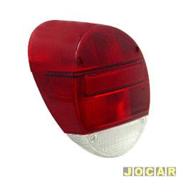 Lente da lanterna traseira - alternativo - Fusca 1980 até 1996 - modelo Fafá - bicolor - cada (unidade)