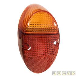 Lente da lanterna traseira - alternativo - Fusca 1200/1300 - bicolor - cada (unidade)