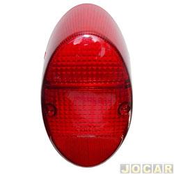Lente da lanterna traseira - alternativo - Fusca 1200/1300 - vermelha - cada (unidade)