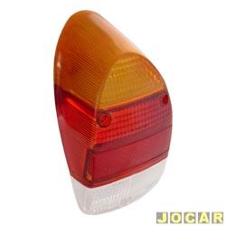 Lente da lanterna traseira - alternativo - Fusca 1300L/1500 - tricolor - cada (unidade)