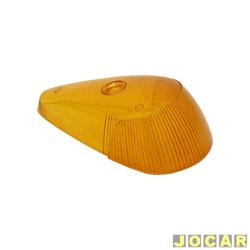 Lente da lanterna dianteira - alternativo - Fusca 1971 em diante - âmbar (amarela) - cada (unidade)