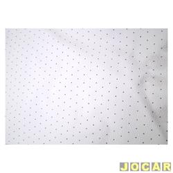 Forração do teto (tapeçaria) - Fusca - 1959 até 1974 - com pontinhos pretos - branco - jogo