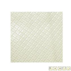 Forração do teto (tapeçaria) - Fusca 1975 até 1986 - branco gelo com relevo xadrez - jogo