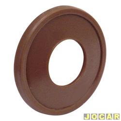 Anel da maçaneta de vidro - alternativo - Fusca  - plástico - marrom - cada (unidade)