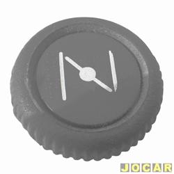 Botão do afogador - alternativo - Fusca 1959 até 1996 - preto - cada (unidade)