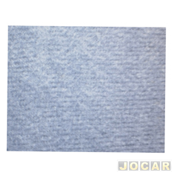 Forração do teto (tapeçaria) - Fusca - 1959 até 1975 - veludo preto - jogo