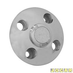 Calota do centro da roda - Fusca 1975 até 1996-Brasilia - Alfa 4 furos - cromada - cada (unidade)