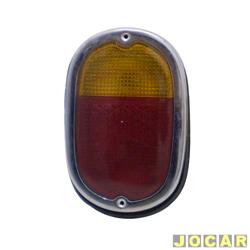 Lanterna traseira - alternativo - Kombi 1500/1200 - com aro cromado - bicolor - cada (unidade)