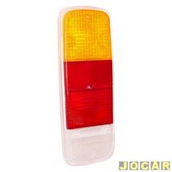 Lente da lanterna traseira - alternativo - Kombi Clipper 1976 até 1997 - tricolor - cada (unidade)