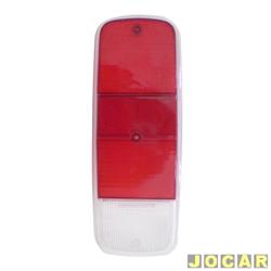 Lente da lanterna traseira - alternativo - Kombi cliper 1976 até 1997 - bicolor - cada (unidade)