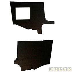 Revestimento do óculos - alternativo - Kombi diesel 1981 até 1986 - preto - par