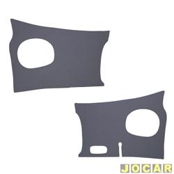Revestimento do óculos - alternativo - Kombi 1500 1967 até 1975 - cinza - par