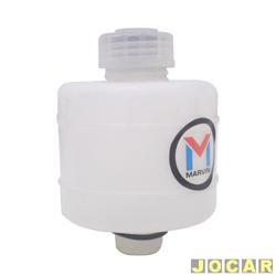 Reservatório do óleo de freio - alternativo - Marvini - Kombi 1957 até 1996 - frasco redondo - com tampa - branco - cada (unidade) - M-010