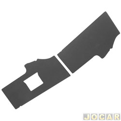Revestimento do óculos - alternativo - Kombi Clipper 1976 até 1996 - preto - par