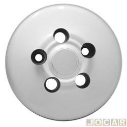 Calota do centro da roda - Kombi 1982 em diante - Plastica-presa p/parafuso - prata - cada (unidade)