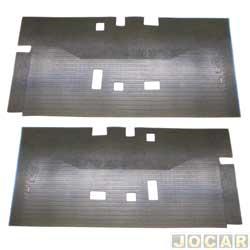 Tapete de borracha - Borcol - Kombi 2005 em diante - do salão - dianteira e traseiro - preto - par - 01116121