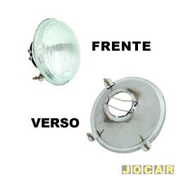 Bloco ótico do farol - alternativo - Fortluz - Brasília 1973 até 1982 - sem farolete - cada (unidade) - 12035
