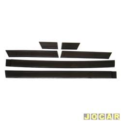 Friso lateral - alternativo - Passat 1983 até 1989 - largo - auto colante - preto - jogo
