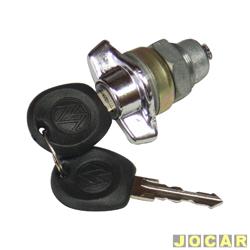 Cilindro do capô traseiro - alternativo - Passat 1974 até 1986 - tampa maior 3 portas - com orelha - cromado - cada (unidade)