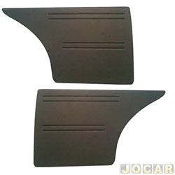 Revestimento lateral traseiro - alternativo - Passat 1974 até 1978 - 2 portas - preto - par