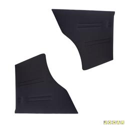 Revestimento lateral traseiro - alternativo - Passat 1979 até 1989 - 2 portas - curvim - preto - par