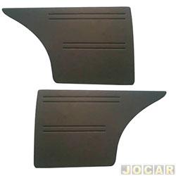 Revestimento lateral traseiro - alternativo - Passat 1979 até 1989 - veludo - 2 portas - par