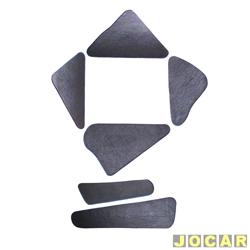 Anti-ruído do capô - Toroflex / Vibrac System - Passat 1979 até 1989 - auto-adesivo - preto - jogo - 00820