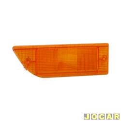 Lente da lanterna dianteira - alternativo - Passat 1986 até 1989 - âmbar (amarela) - lado do passageiro - cada (unidade)