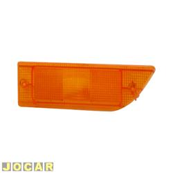 Lente da lanterna dianteira - alternativo - Passat 1986 até 1989 - âmbar (amarela) - lado do motorista - cada (unidade)