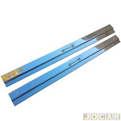Soleira - alternativo - Variant/TL 1970 até 1977 - estribinho interno inox - cromado - par