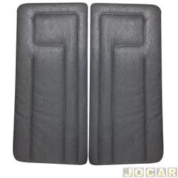 Revestimento de porta - alternativo - Gol/Parati/Saveiro/Voyage 1988 até 1994 2 portas - curvim - modelo CL - cinza claro - par