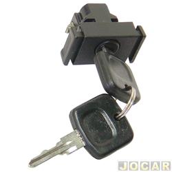 Botão do porta-luvas - alternativo - Gol/Parati/Voyage/Saveiro  - 1980 até 1994 - com chave - preto - cada (unidade)