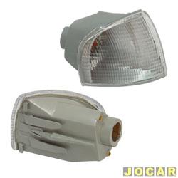 Lanterna dianteira - alternativo - Cofran - Gol/Parati/Saveiro 1995 até 1999 - encaixe Cibié - cristal (branca) - lado do passageiro - cada (unidade) - 3340.3
