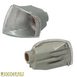 Lanterna dianteira - alternativo - Cofran - Gol/Parati/Saveiro 1995 até 1999 - encaixe Cibié - cristal (branca) - lado do motorista - cada (unidade) - 3341.3