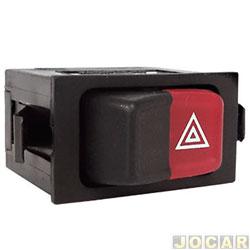 Interruptor de emergência - Kostal - Gol/Saveiro/Santana/Quantum 1984 até 1997 - preto e vermelho - cada (unidade) - 3813905