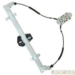 Máquina de vidro - Gol 1995 até 1999 - 2 portas - maçaneta de parafuso - lado do motorista - cada (unidade)