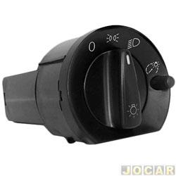 Interruptor do farol - Kostal - Gol/Saveiro/Santana/Quantum 1997 até 2006 - com reostato - luz verde - cada (unidade) - 4052325