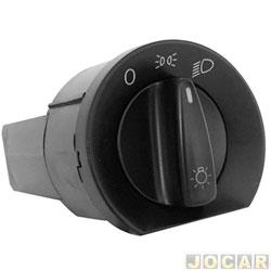 Interruptor do farol - Kostal - Gol/Parati/Saveiro 1997 até 1999 - sem reostato - luz verde - cada (unidade) - 4052324