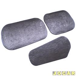 Anti-ruído do capô - Toroflex / Vibrac System - Gol bola 1994 até 12/1995 - auto-adesivo - preto - jogo - 00818
