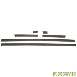 Friso lateral - Gol CL 1987 até 1994  - estreito 4 cm de largura - auto colante - cinza claro - jogo