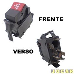 Interruptor de emergência - alternativo - Gol 1980 até 1987 - cada (unidade)