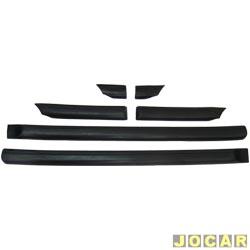 Friso lateral - alternativo - Gol GL 1987 até 1994 - estreito 7 cm de largura - auto colante - preto - jogo