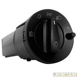 Interruptor do farol - Kostal - Gol/Parati/Saveiro 1999 até 2008 - com reostato/com milha/farol simples-luz vermelha - cada (unidade) - 4052336