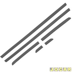Friso lateral - alternativo - Gol/Parati GL 1995 até 1999 - 2 portas - auto colante - preto - jogo